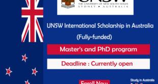 Fully-funded Scholarship Award At University of New South Wales