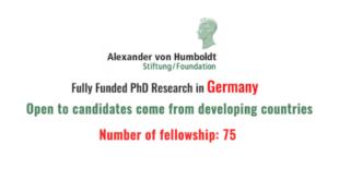 Georg Foster Research Fellowship