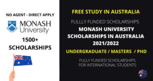 Monash International Tuition Scholarship