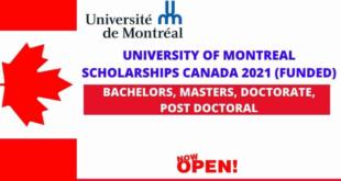 University of Montreal Scholarship in Canada