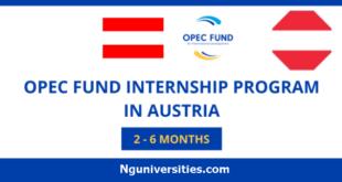 OPEC Fund Internship program