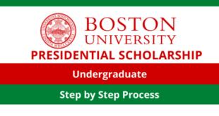 Boston University Presidential Scholarship