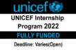 Paid UNICEF Internship Program