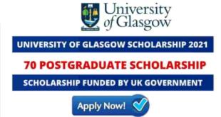 University of Glasgow International Leadership Scholarship