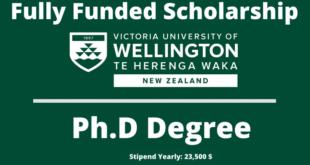 Wellington Doctoral Scholarship