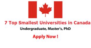 7 Top Smallest Universities in Canada