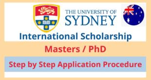 University of Sydney RTP scholarships