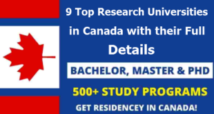 9 Top Research Universities in Canada with their Full Details