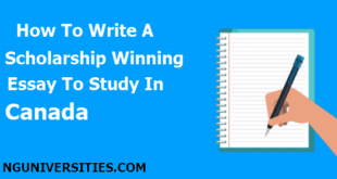 How To Write A Scholarship Winning Essay To Study In Canada