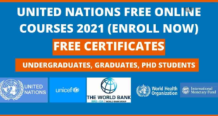 Fully Funded United Nations Free Online Courses 2021