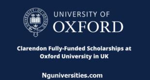 Clarendon Scholarships at Oxford University in UK