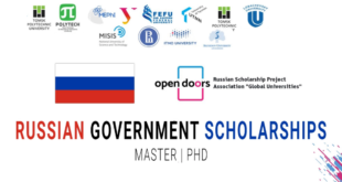 Russia Government Scholarship 2022